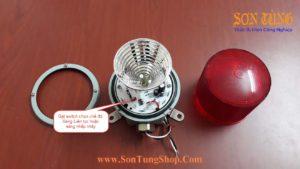 Den bao hieu Qlight bong LED nhap nhay SH1L-SH1LF-220-R