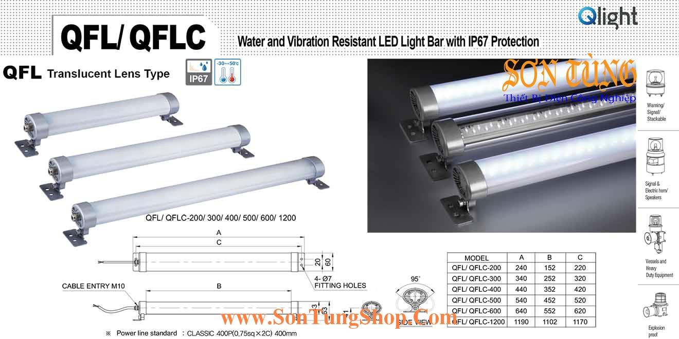 QFLC-1200-110 Đèn LED chiếu sáng chống nước, chống rung Qlight IP67