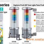 Đèn tháp phòng nổ QLight Bóng LED còi 80dB QTEX, QTEXB IP66
