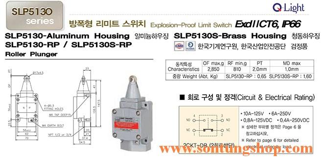 Công tắc hành trình Qight SLP5130-RP Phòng nổ ExdIICT6, IP66, Dạng Con Lăn Pít Tông