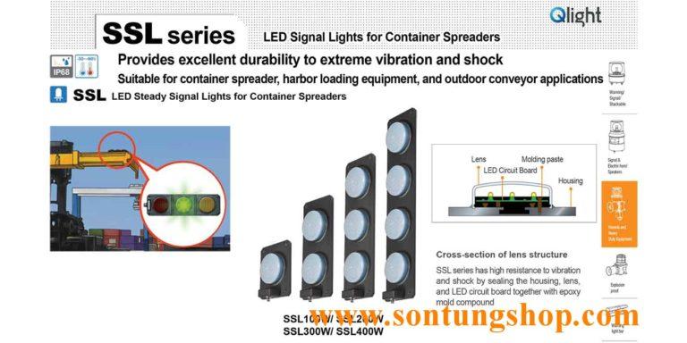 Đèn LED báo đóng mở gù Container loại vỏ trắng SSL_W Qlight Korea Hàn Quốc