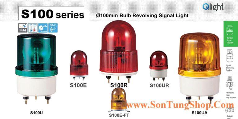 S100R-BZ-380-R Đèn quay Qlight Φ100 Bóng Sợi đốt IP44