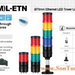 Den thap ket noi mang LAN Ethernet Qlight IP54 QT70L-ETN, QT70ML-ETN