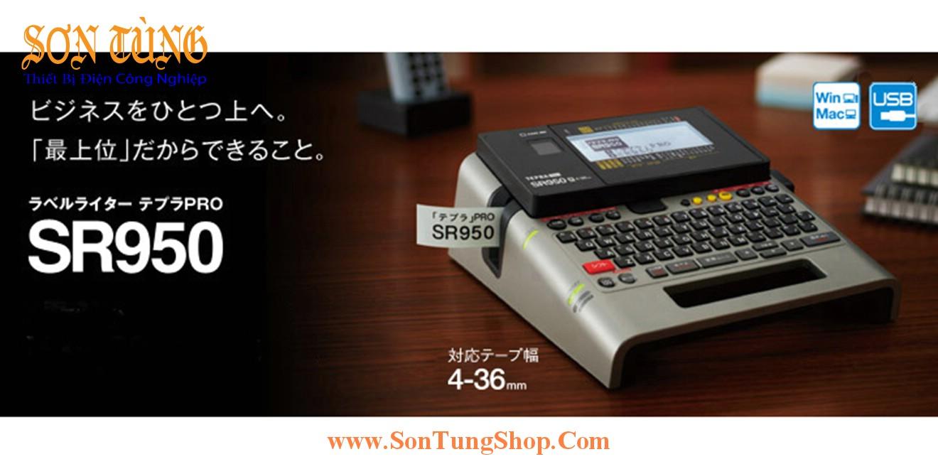 Máy In Nhãn Đa Lớp Bàn Phím Qwerty Tepra SR950, 4~36mm, Kết Nối Win, Mac, USB
