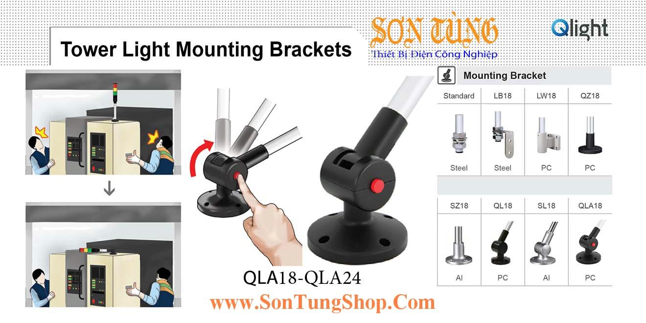 QLA18, QLA24 Gá tròn xoay với nút điều chỉnh Φ18 Φ24 Sử dụng cho Đèn tháp Qlight