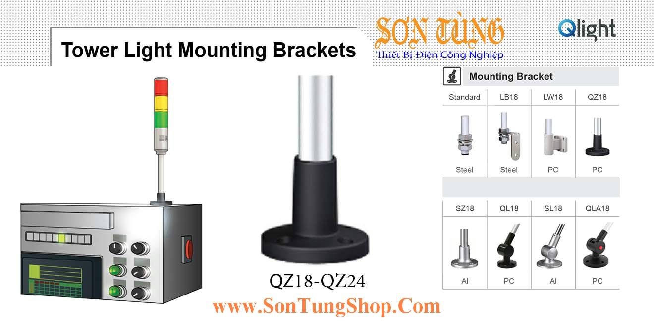 QZ18, QZ24 Gá trụ tròn Φ18 Φ24 Sử dụng cho Đèn tháp Qlight