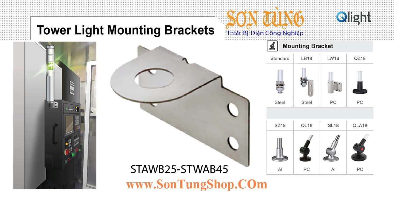 STAWB25, STAWB45, Gá gắn tường Sử dụng cho Đèn tháp Qlight