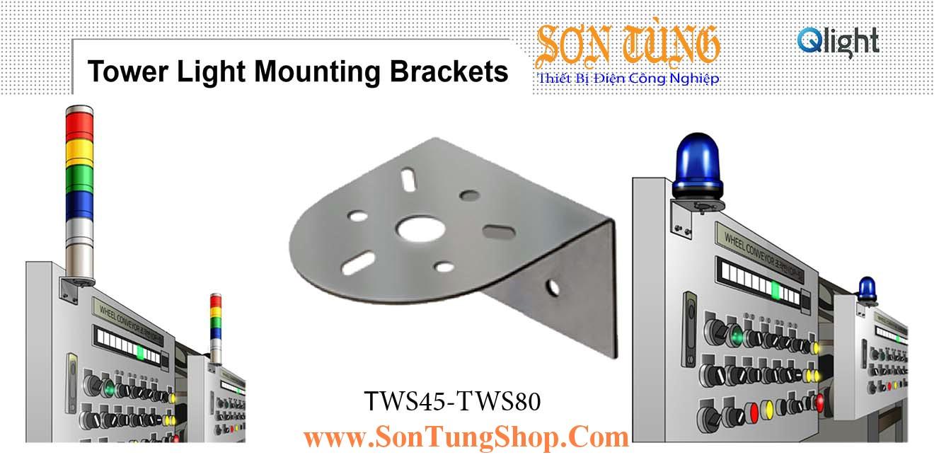 TWS45, TWS80 Gá gắn tường Sử dụng cho Đèn tháp Qlight