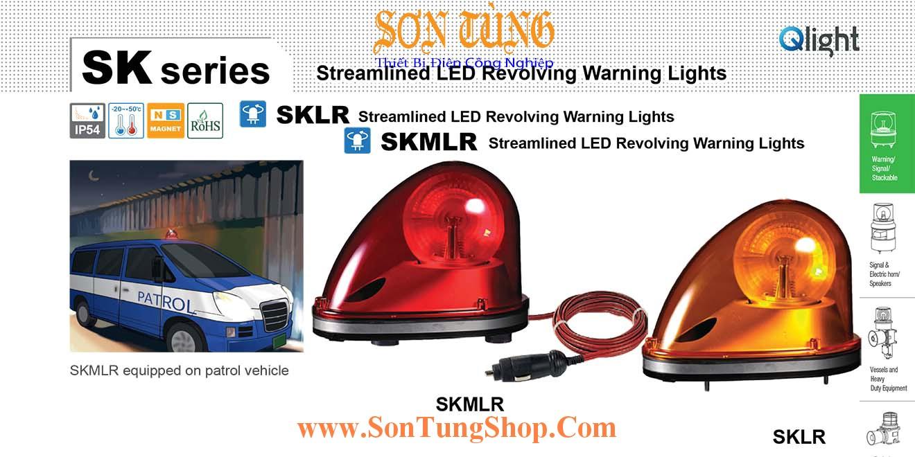 Đèn báo hiệu dẫn đường Xe ưu tiên Qlight SKLR, SKMLR, Quay, Bóng LED