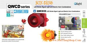 QWCD35SD-MP3 den bao co loa ghi am Mp3 Qlight