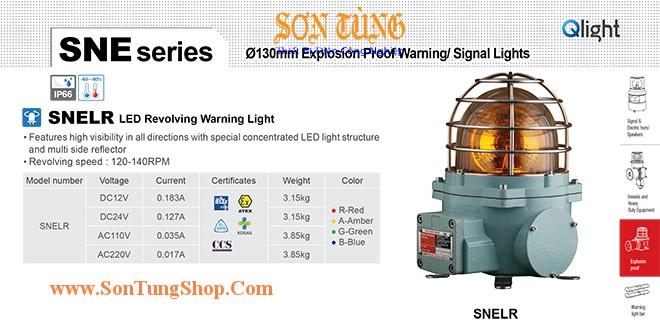 SNELR-24-R Đèn phòng nổ quay cảnh báo Qlight Φ152 Bóng LED  IP66, IECEx, ATEX, NEPSI, KIMM